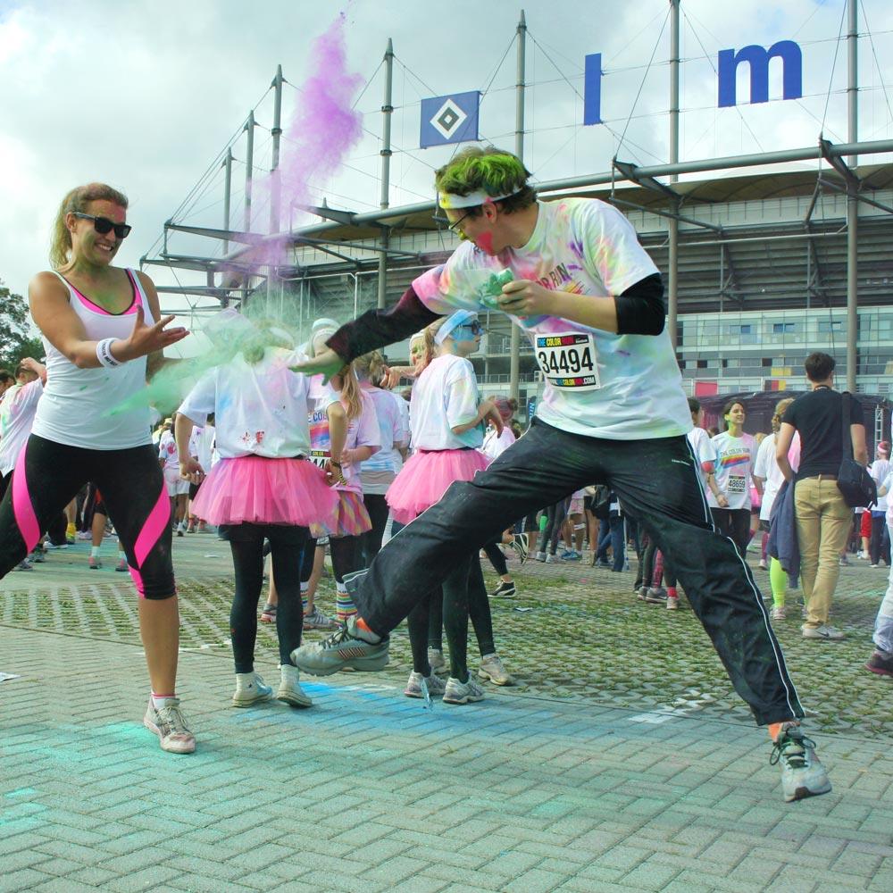 Color Run: Farbkampf zwischen Svenja & André