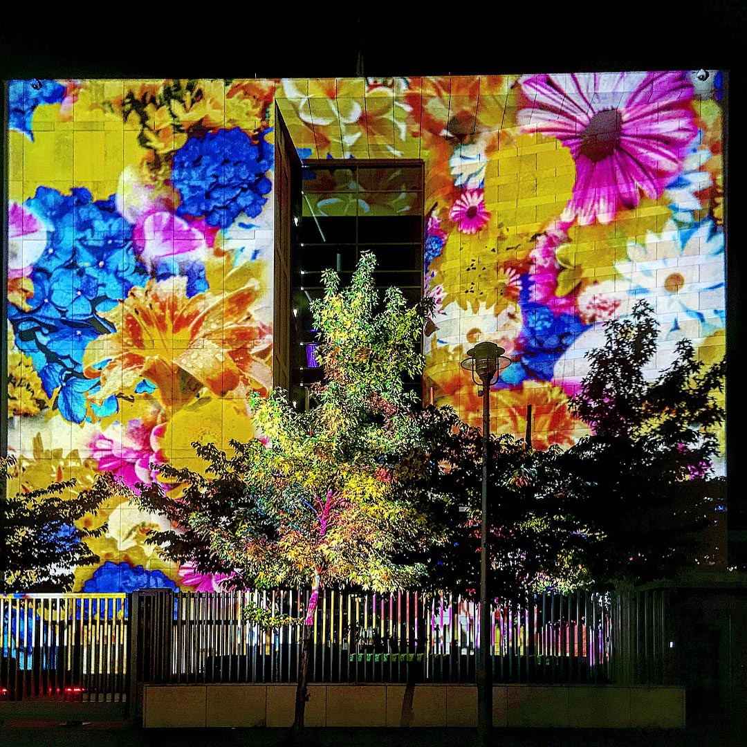 Festival of Lights 2017: Botschaft der Republik Singapur von Blumen bedeckt