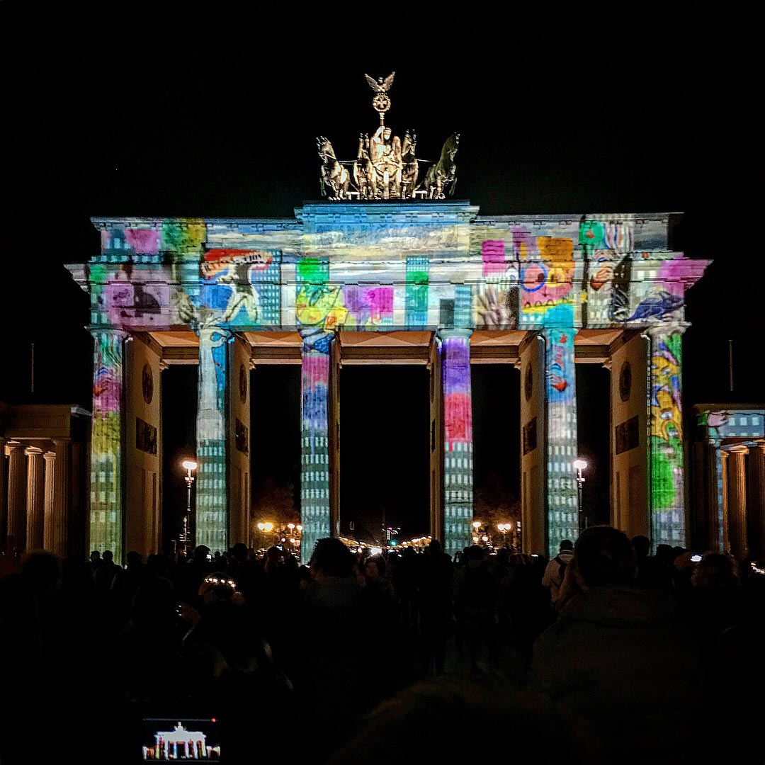 Festival of Lights 2017: Streetart auf dem Brandenburger Tor