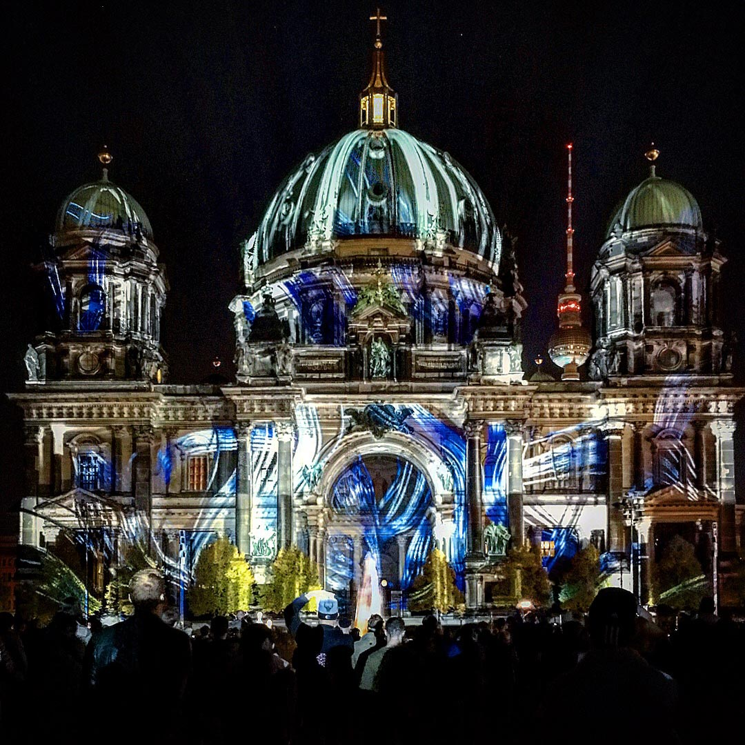 Festival of Lights 2017: Verbogener Berliner Dom