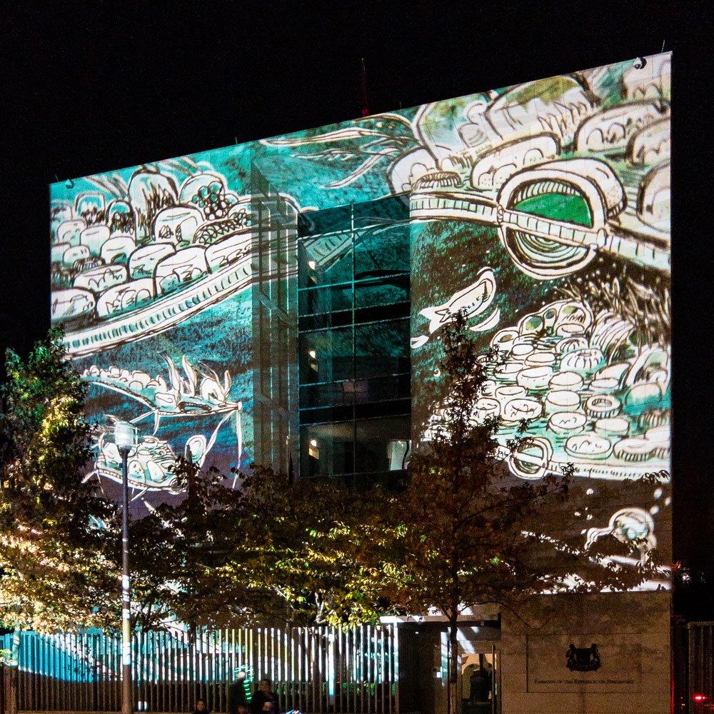 Festival of Lights 2018: Botschaft Singapur B